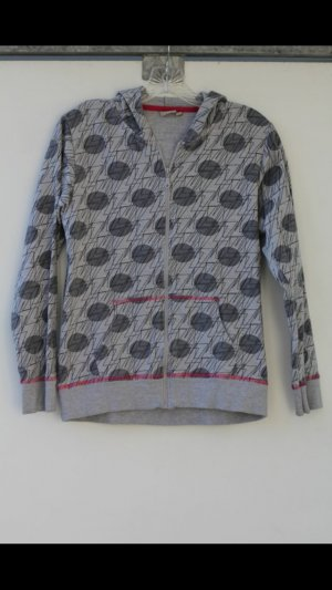 Blue Seven Capuchon sweater lichtgrijs-zwart