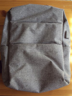 Laptop Backpack grey polyester