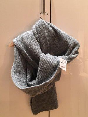 Zara Sciarpa di lana grigio