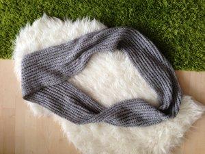 Écharpe tube gris-argenté
