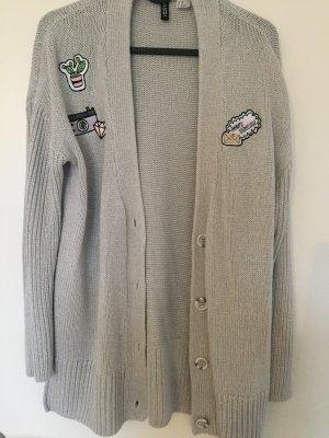 H&M Divided Cardigan all'uncinetto grigio chiaro