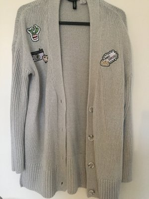 H&M Divided Cardigan en crochet gris clair