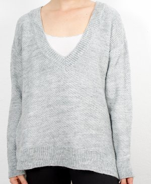 Zara Wool Sweater light grey-grey