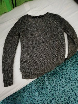 Cecil Knitted Sweater silver-colored-dark grey