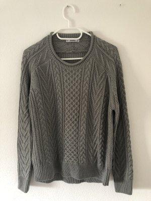 Pull & Bear Maglione lavorato a maglia grigio