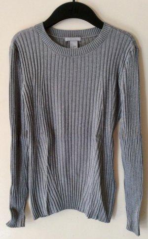 H&M Pull tricoté gris
