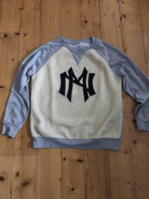 Grauer Sweater mit Teddyfell von Noisy May in Gr. L