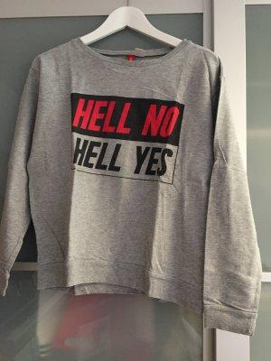 grauer Sweatshirt mit Druck