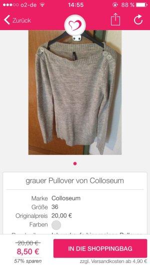 grauer und weißer Pullover von Colloseum