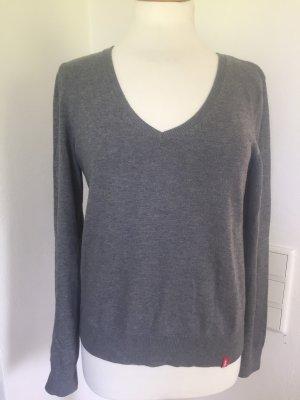 edc by Esprit T-shirt col en V gris-gris clair