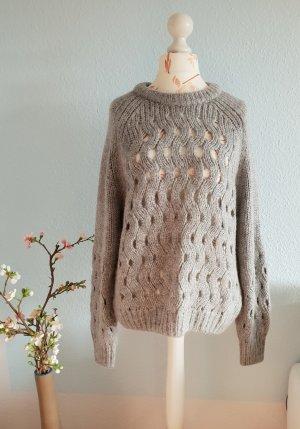 & other stories Jersey de lana gris-gris claro tejido mezclado