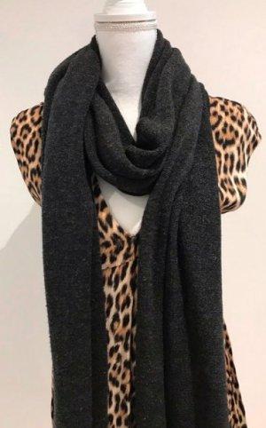 Zara Bufanda de lana gris antracita
