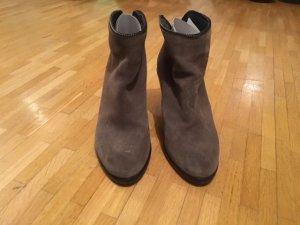 All Saints Low boot gris daim