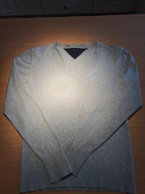 Grauer Woll Pullover von Tommy Hilfiger in 38