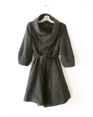 Vintage Wollen jas grijs