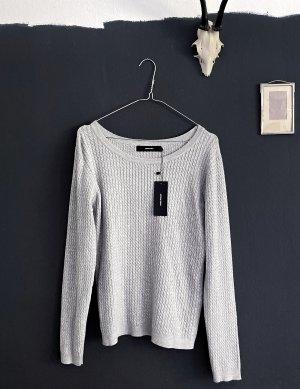 Vero Moda Wool Sweater grey-light grey viscose