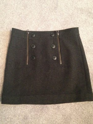 Zero Wool Skirt anthracite wool