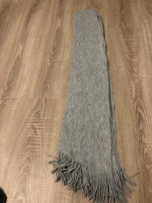 Zara Écharpe en laine gris-gris clair laine