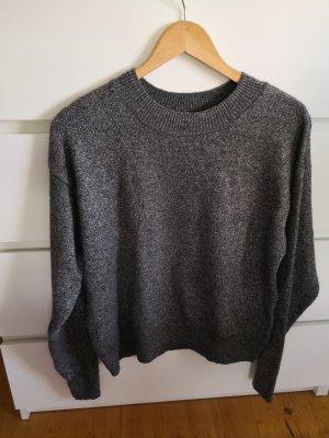 H&M Maglione di lana argento-grigio
