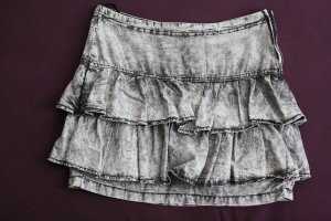 Flounce Skirt silver-colored cotton