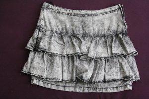Falda con volantes color plata Algodón
