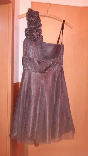 graues Abendkleid / 34