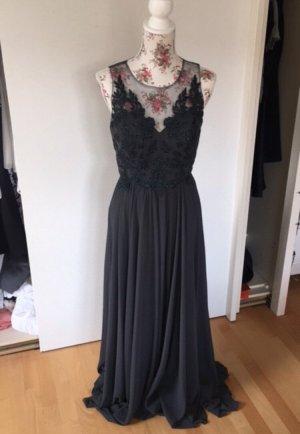 Graues Abendkleid/ Abiballkleid