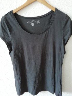 graues Basic-Shirt