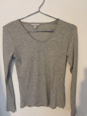 Amisu Camisa acanalada color plata-gris claro