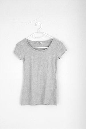 graues Basic T-Shirt