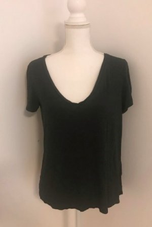 H&M Basic Top anthracite cotton