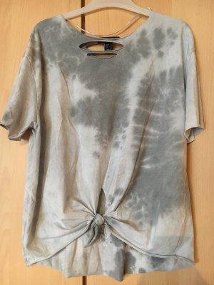Graues Bauchfreies  T Shirt