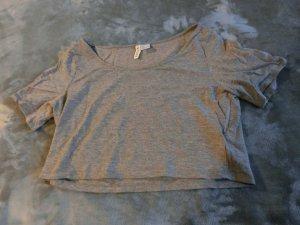 graues Bauchfreies T-Shirt