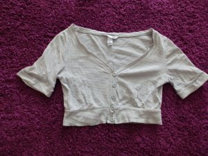 H&M Bolero lavorato a maglia argento Cotone