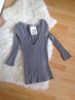 graues Cardigan Pullover Hollister