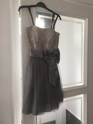 Graues Cocktail Kleid grau