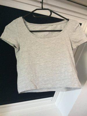 Graues cropped Tshirt