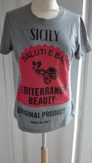 graues Dolce & Gabbana Shirt mit Etikett