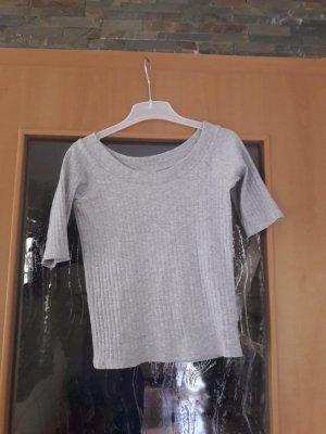 Graues dreiviertel Arm Shirt