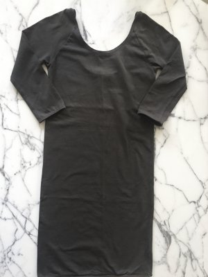 Graues enges Kleid / Longtop mit Rückenausschnitt von COS