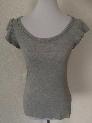 graues Esprit Shirt mit lockeren Ärmeln - Gr. S