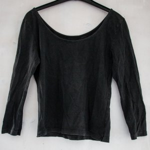 Hennes Collection by H&M Lang shirt grijs-donkergrijs Katoen