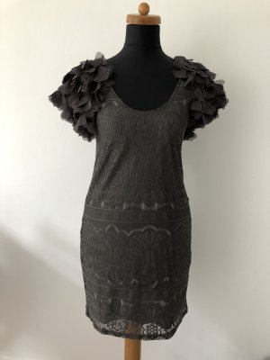 Graues H&M Kleid mit Puffärmeln
