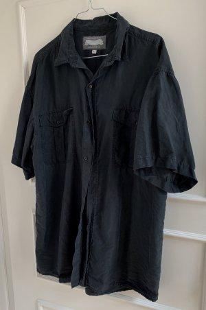 Camisa de manga corta gris antracita