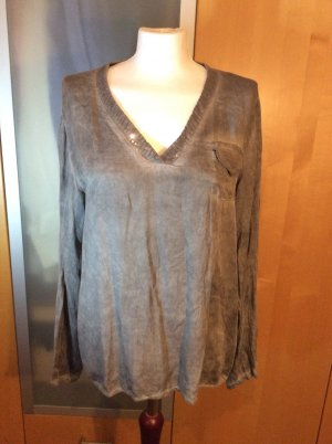 Zakelijk overhemd lichtgrijs-grijs