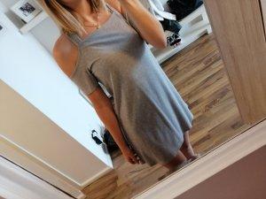 HM Off-The-Shoulder Dress light grey