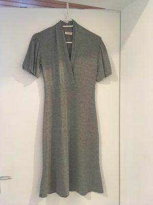 Graues Kleid Midikleid elegant schlicht