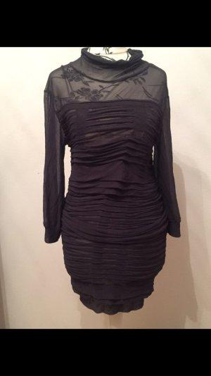 Graues Kleid rüschen transparent