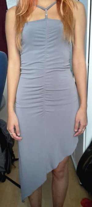 Halter Dress silver-colored