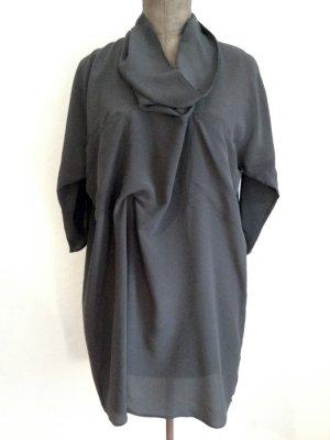 Graues Kleid/ Tunika aus 100% Seide von Zara Studio, Gr. L (40/42)